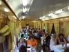 In het restauratierijtuig in de Trans Mongolie Express