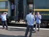 Onze provodnikies in de Trans Mongolie Express