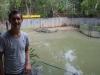 Sebastiaan bij de krokodillen