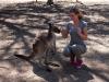 Mariska met kangoeroe