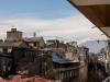 View vanaf ons balkon in Santiago