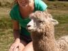 Mariska met een Lama