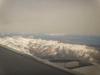 View vanuit het vliegtuig, cruisen over de Andes