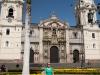 Mariska op Plaza des Armes in Lima