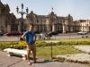 Sebastiaan voor het paleis