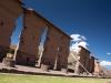 De tempel in een oud Inca dorp