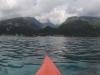 Approaching Tahiti in Kayak