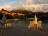 Zonsondergang bij Laguna pool