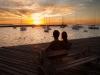 Samen zonsondergang kijken